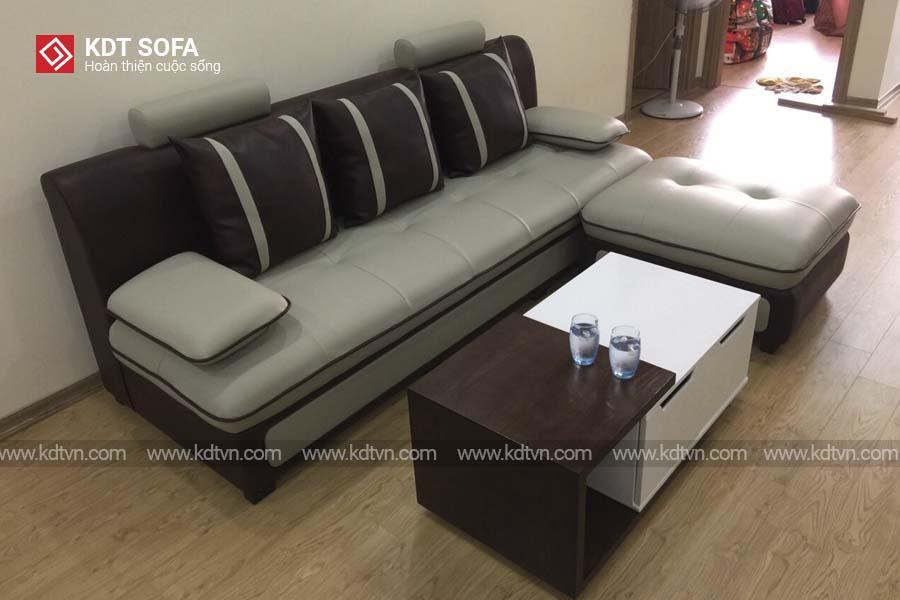 ghế sofa nỉ kết hợp da giá rẻ