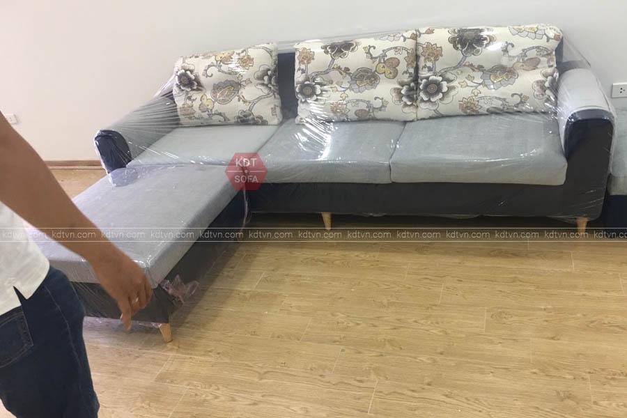 Mẫu ghế sofa góc L Phòng khách đẹp - KDT Sofa
