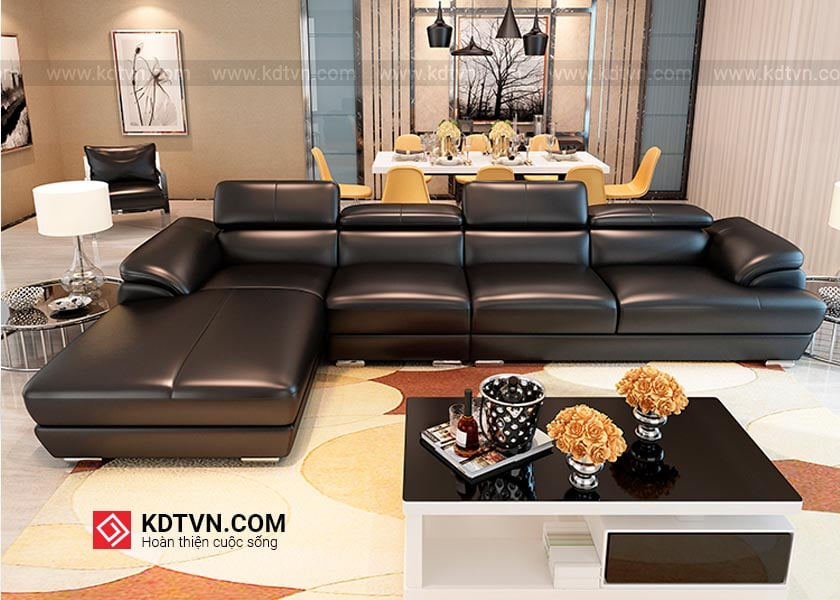 Sofa da phong khach dep hien dai 04 KD215
