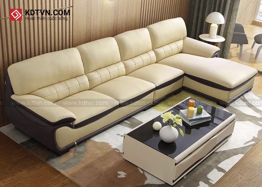 Sofa da phòng khách hiện đại