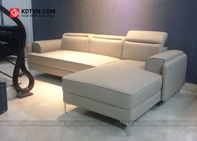 Sofa góc da hiện đại giá rẻ KD145