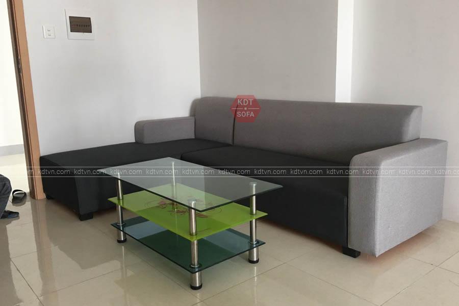 Ghế sofa góc nỉ đẹp Hà Nội