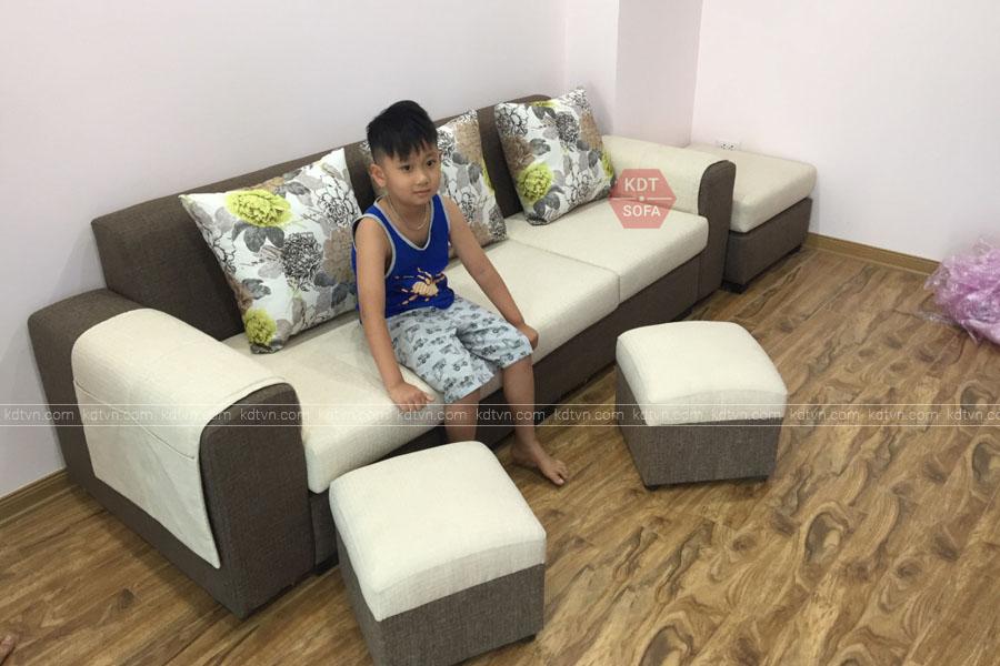 Mẫu sofa dành cho phòng khách nhỏ KDT Sofa