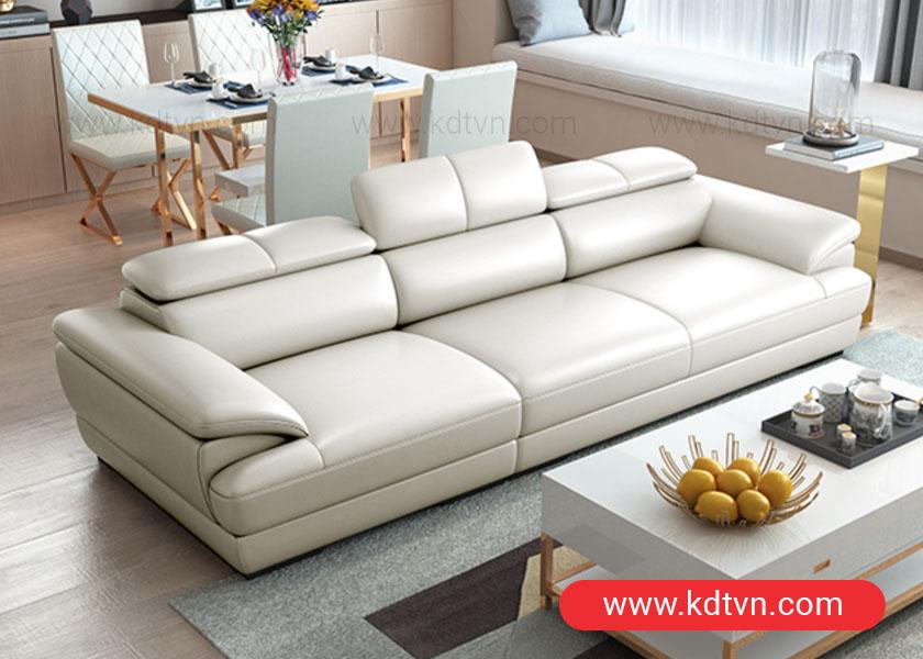 Sofa văng da phòng khách nhỏ