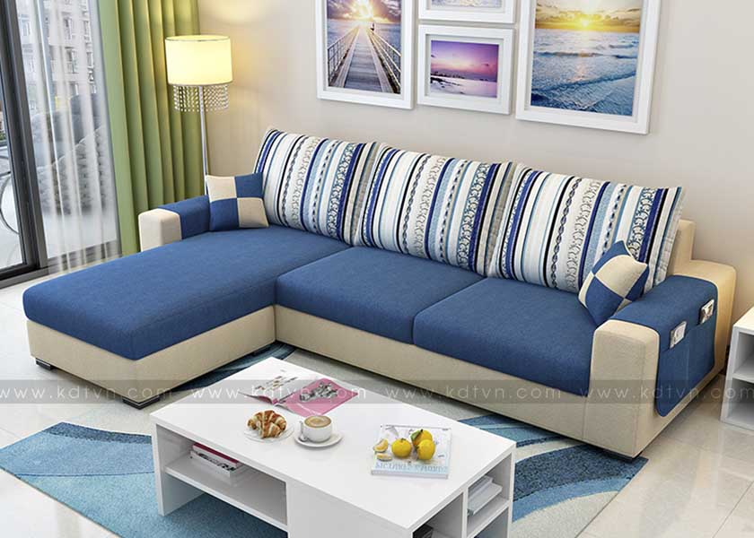Sofa nỉ phòng khách giá rẻ KD023