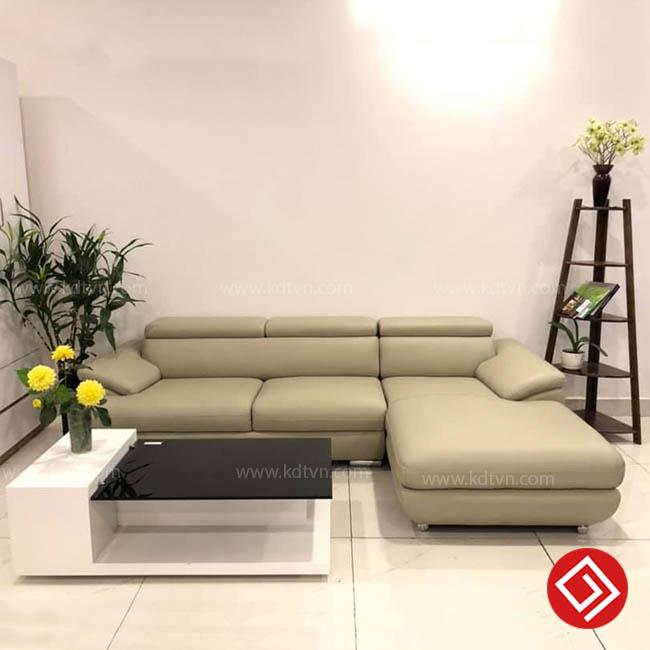 Sofa da phòng khách giá rẻ KD181