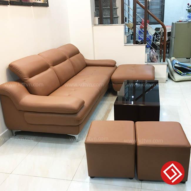 Ghế sofa da phòng khách giá rẻ KD160