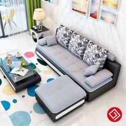 Sofa nỉ phòng khách hiện đại