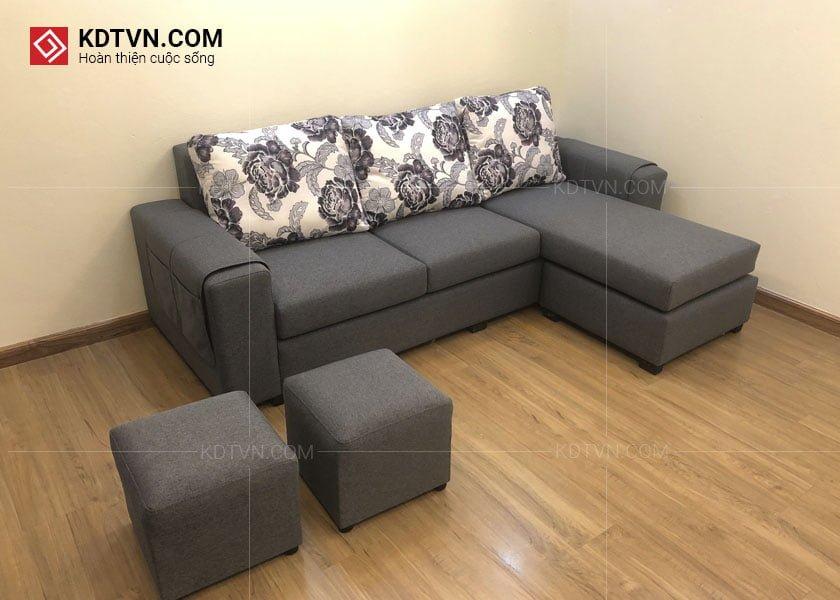 Sofa nỉ cho phòng khách hiện đại