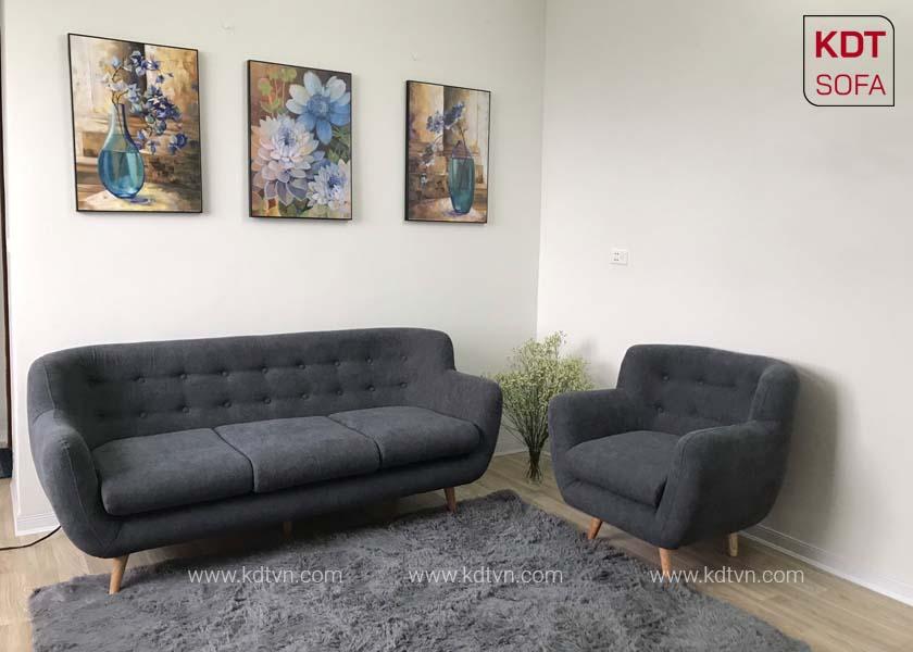 sofa vang ni cho phong khach nho KD024