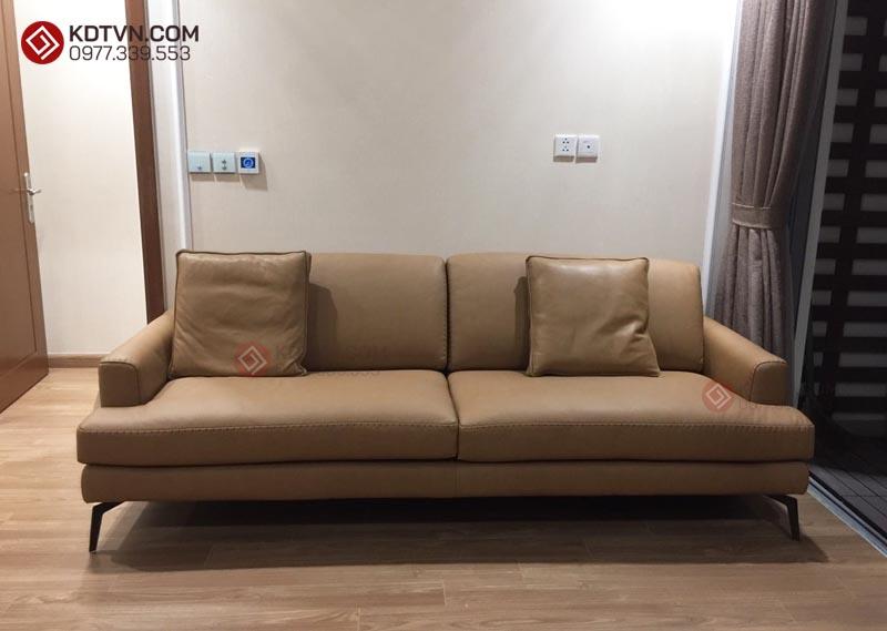 Sofa văng da bàn giao chung cư Mai Dịch