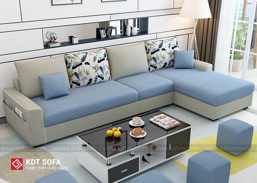 Sofa nỉ cho phòng khách nhỏ