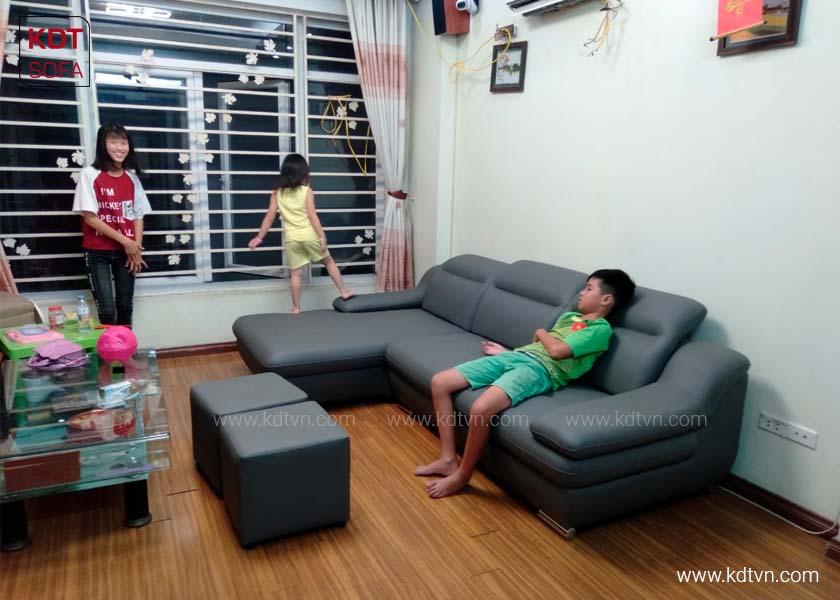Mẫu sofa da phòng khách giá rẻ