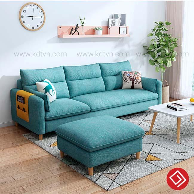 Sofa văng góc màu xanh KD033