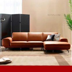 Sofa góc da hiện đại KD330