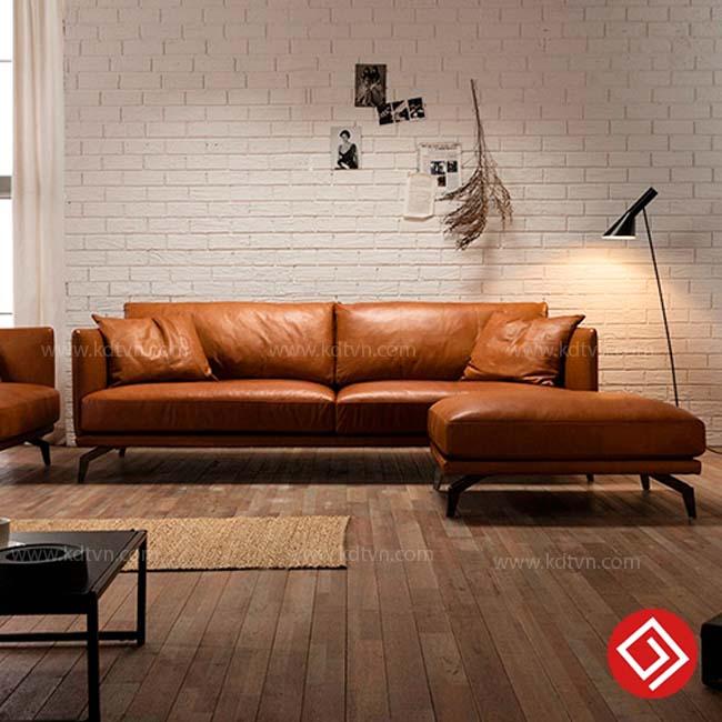 Sofa Da màu da bò KD122
