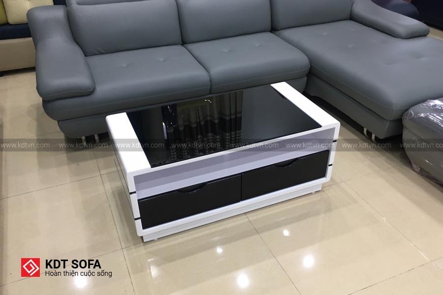 Bàn sofa bàn trà màu trắng đen