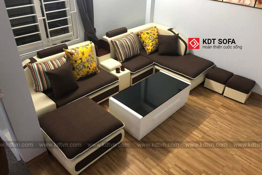 Sofa nỉ cho phòng khách rộng KD028