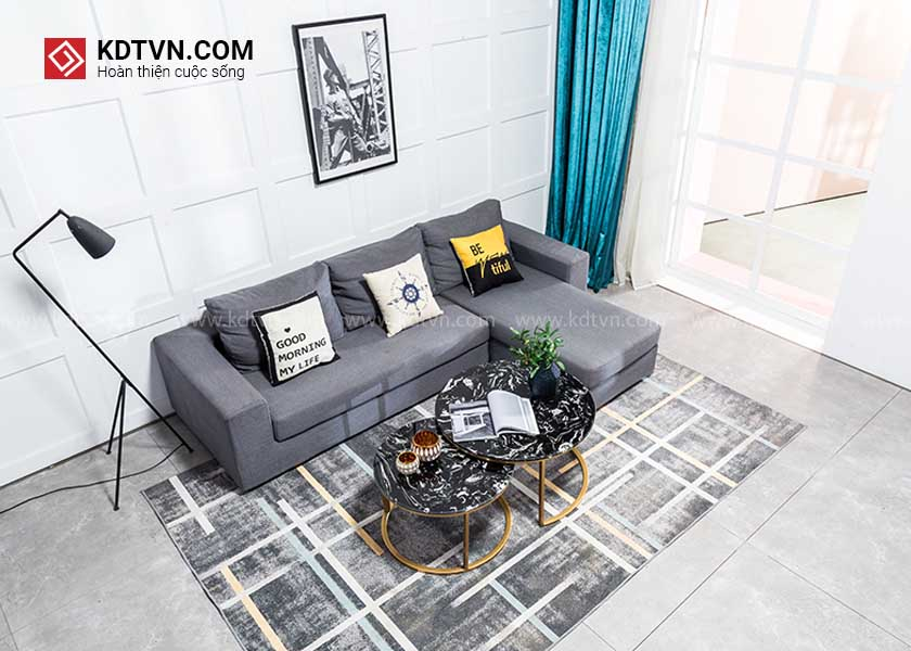 bàn sofa đôi hình tròn