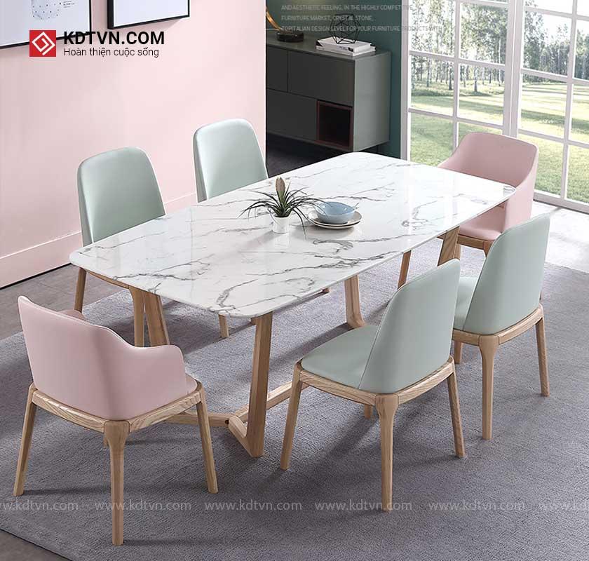 Bộ bàn ăn gỗ 6 ghế hiện đại KDBA01 KDTVN