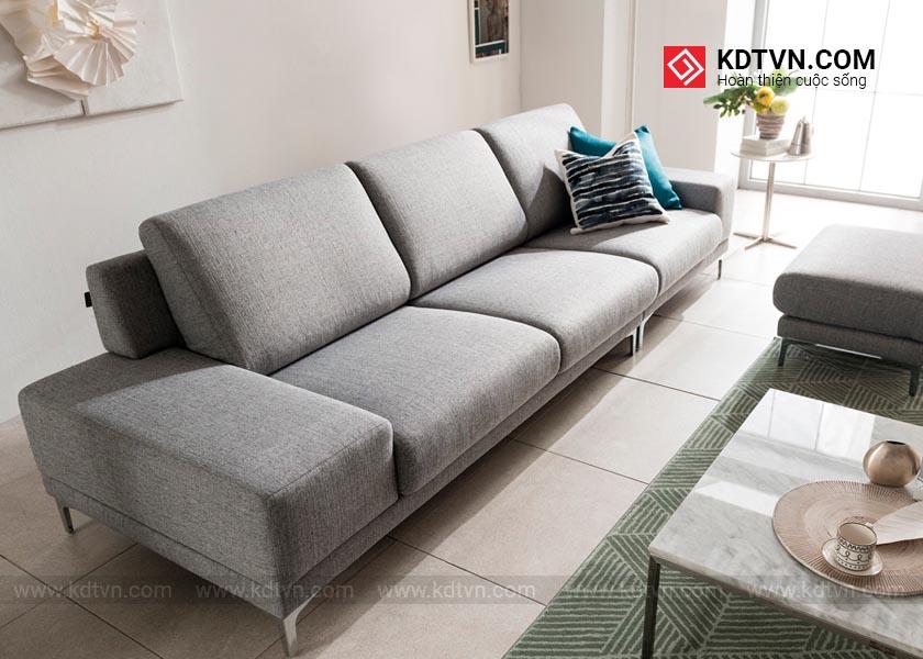 Sofa da cho phòng khách hiện đại