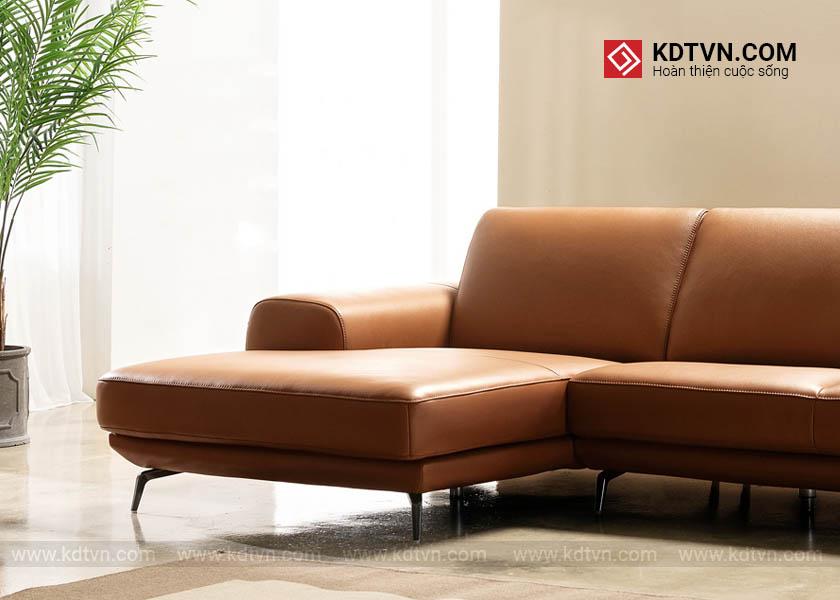 Sofa da phòng khách sang trọng
