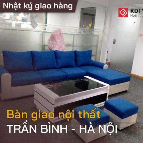 Bàn giao nội thất cho anh Anh ở Trần Bình