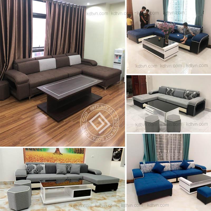 Hình ảnh bàn giao mẫu sofa KD029