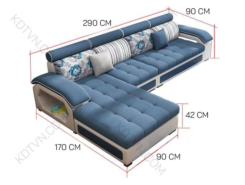 Kích thước sofa đẹp KD029