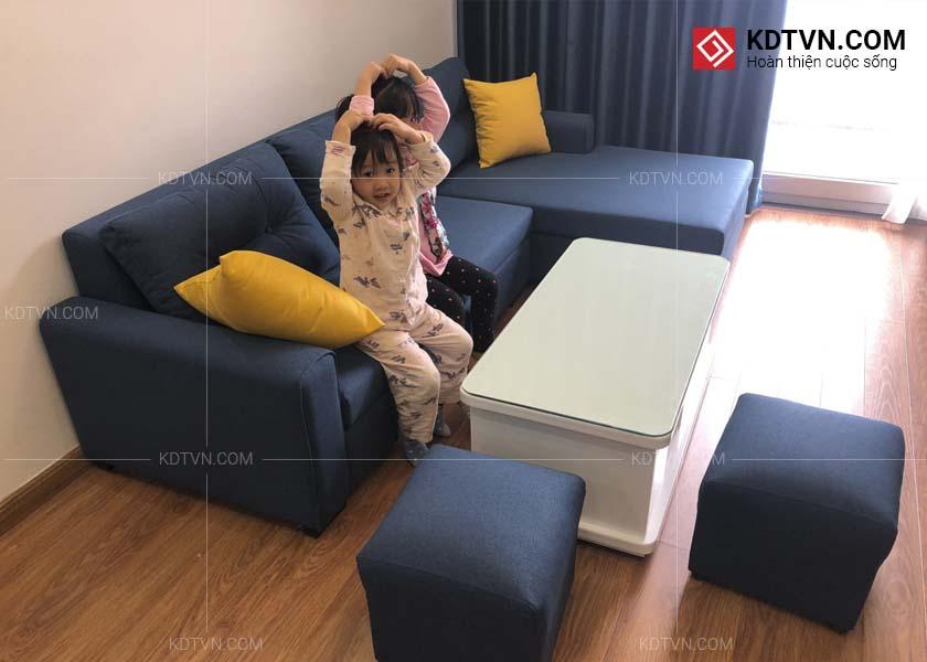 chon màu sofa cùng màu rèm cửa