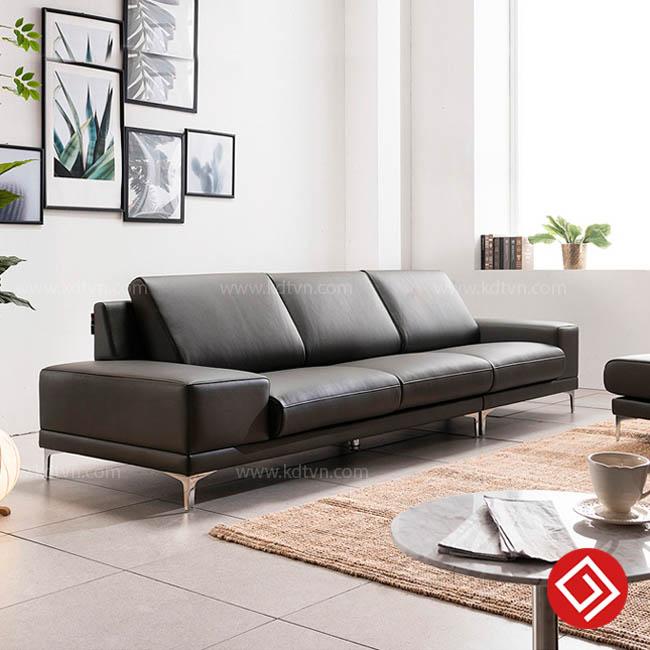 Sofa da cho phòng khách hiện đại KD135