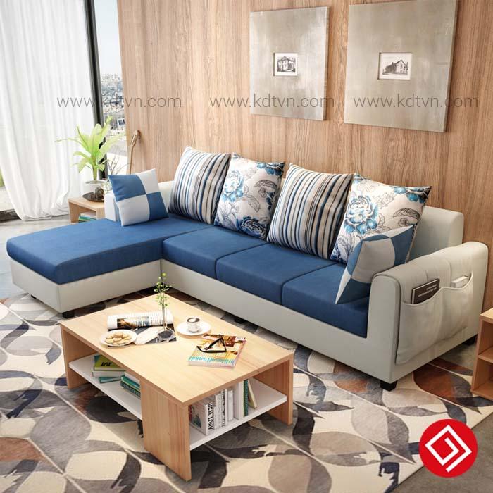 Ghế sofa nỉ phong cách hiện đại