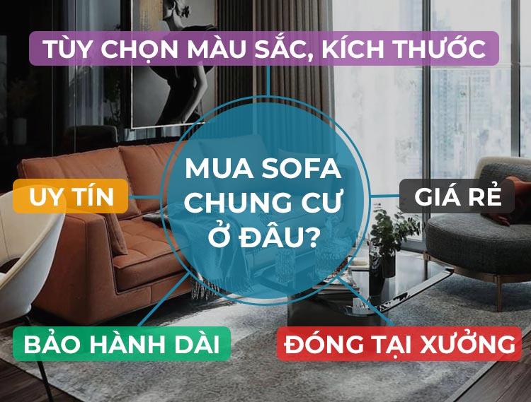 Mua sofa chung cư ở đâu đẹp