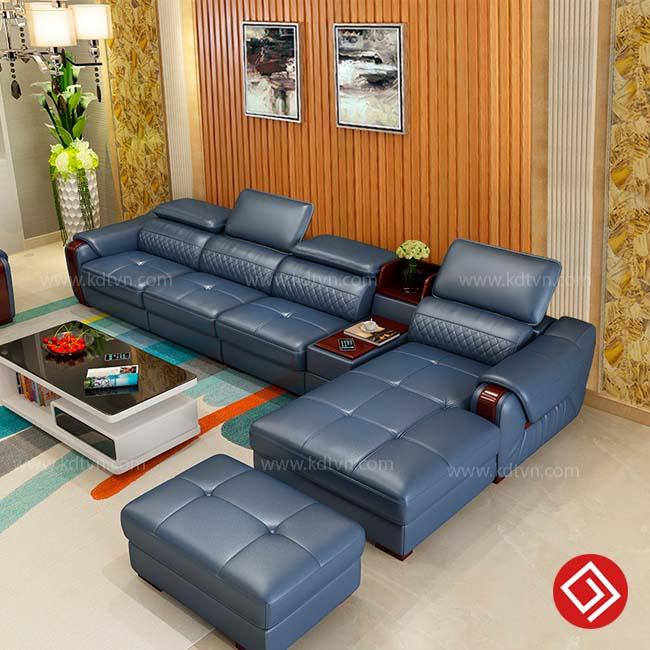 Sofa da góc hiện đại giá rẻ KD223