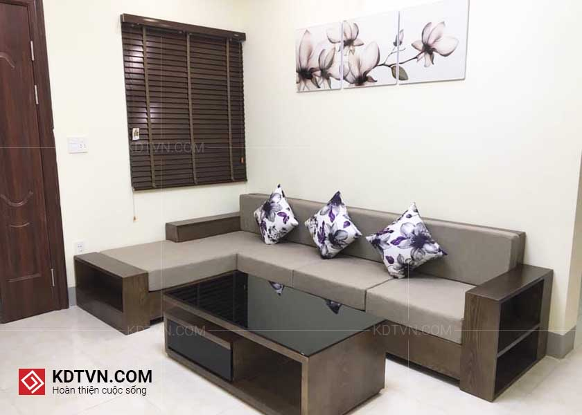 Ghế sofa gỗ óc chó
