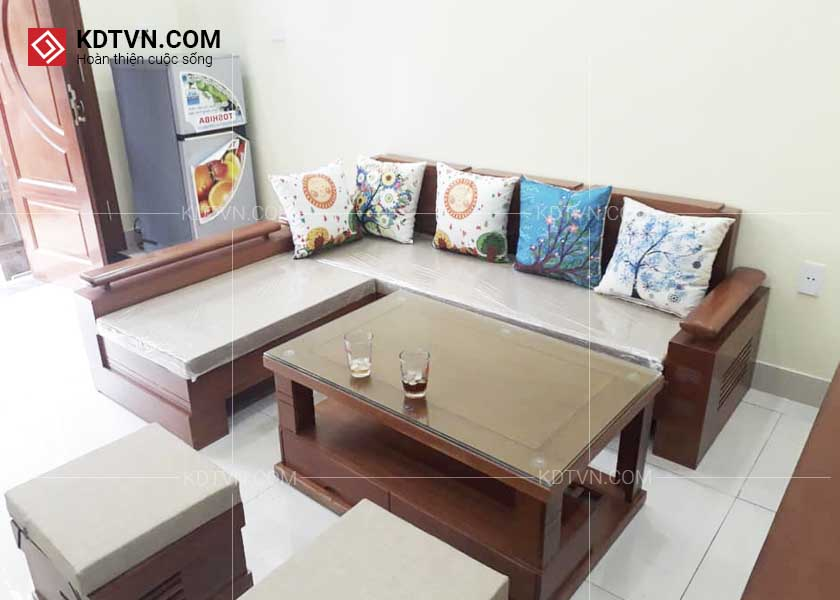 Ghế sopha gỗ phòng khách