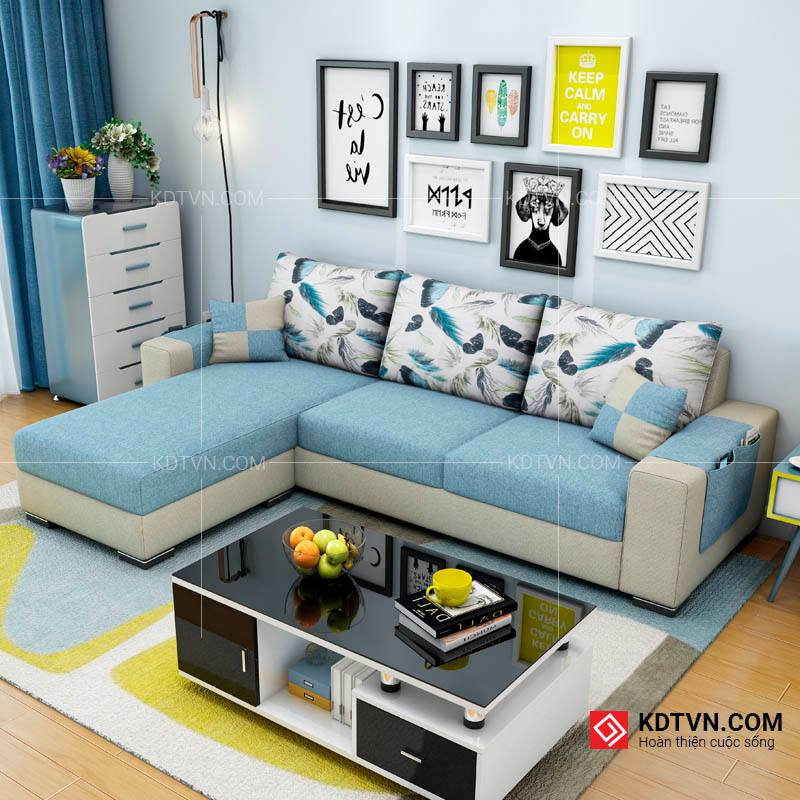 Ghế sofa màu xanh cho mùa hè