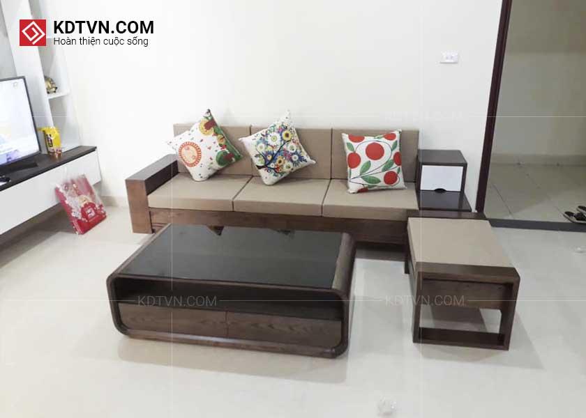 Ghế sofa gỗ cho căn hộ nhỏ