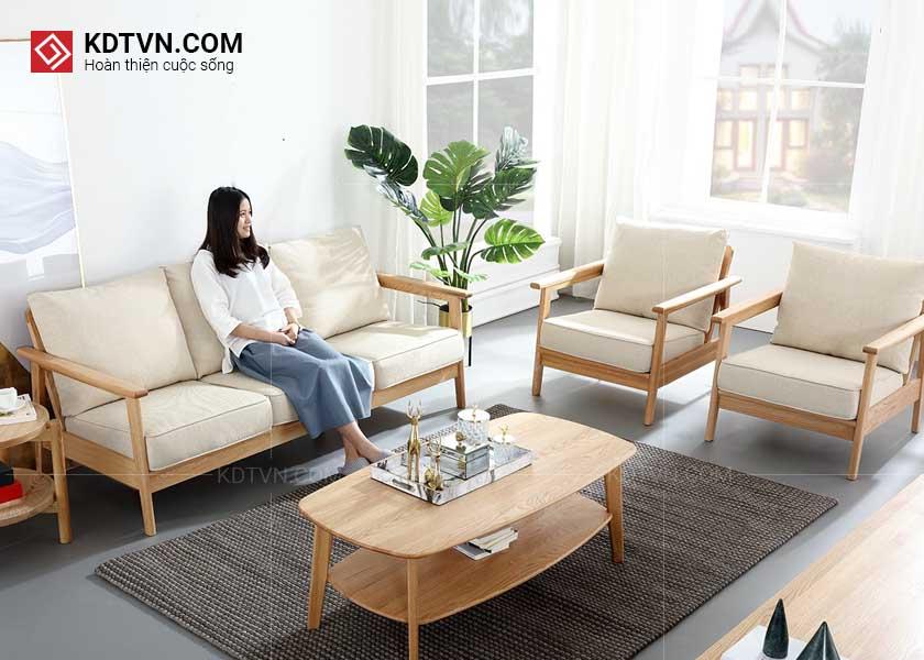 Ghế sofa văng gỗ