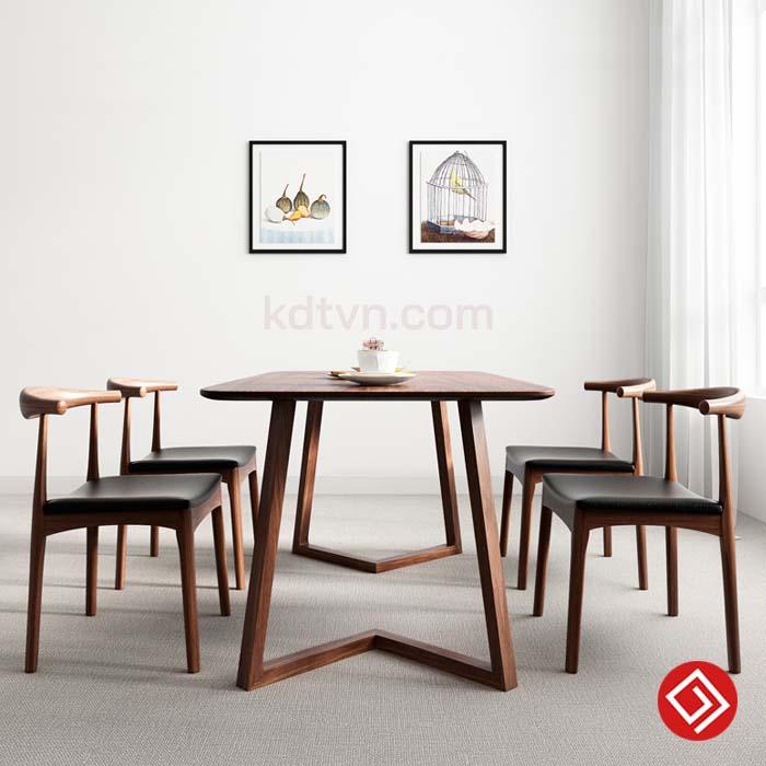 Mẫu bàn ăn gia đình bằng gỗ BA19