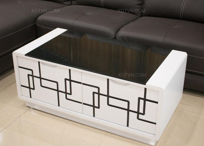 Bàn sofa đen trắng kiểu dáng hiện đại