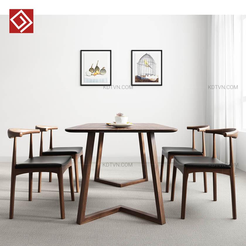 Mẫu bàn ăn gia đình bằng gỗ tự nhiên
