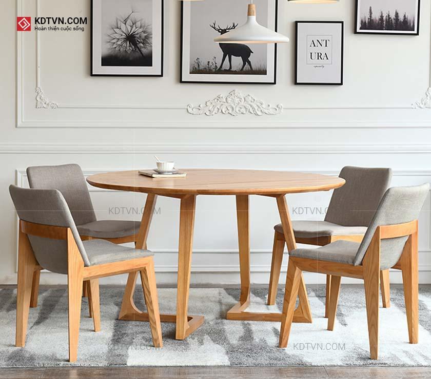 Mẫu bàn ăn tròn bằng gỗ