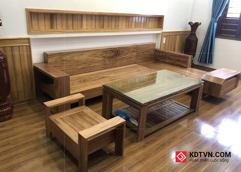 Sofa gỗ hương xám
