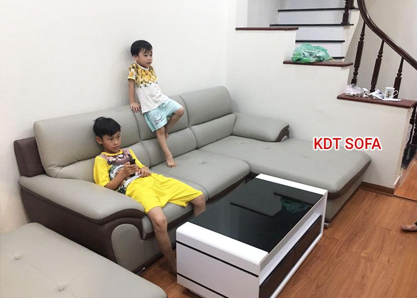Bộ ghế sofa góc cho nhà dưới 30m2