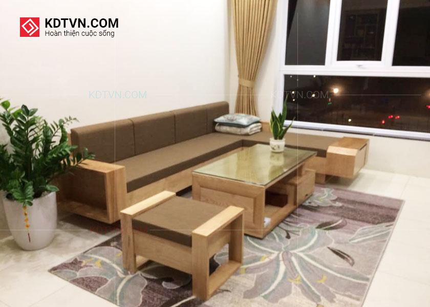 Ghế sofa gỗ sồi tự nhiên