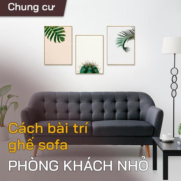Bài trí sofa phòng khách nhỏ 1
