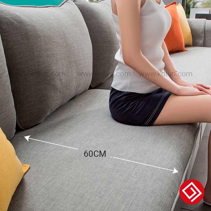 Chiều rộng đệm ghế sofa KD033A