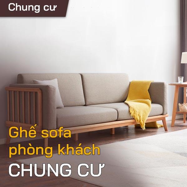 Ghế sofa phòng khách căn hộ chung cư 1