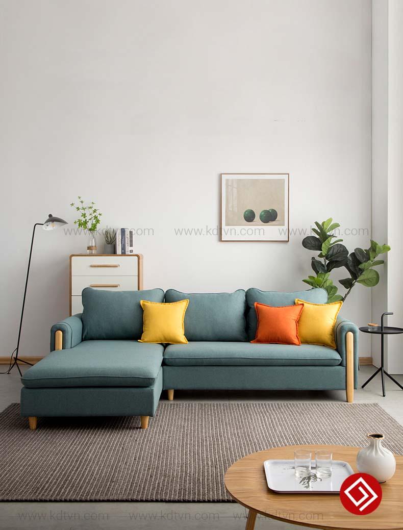 sofa nỉ góc L giá rẻ KD033A